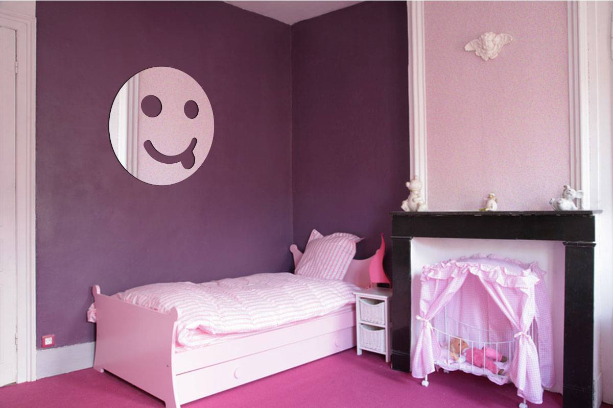 Miroir acrylique Smiley Taquin 3mm