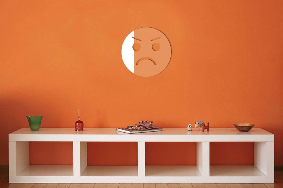 Miroir acrylique Smiley Furieux 3mm