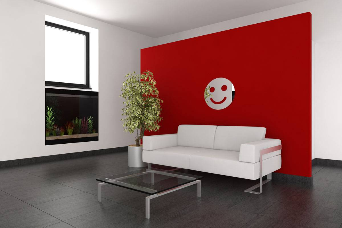 Miroir acrylique Smiley Souriant 3mm