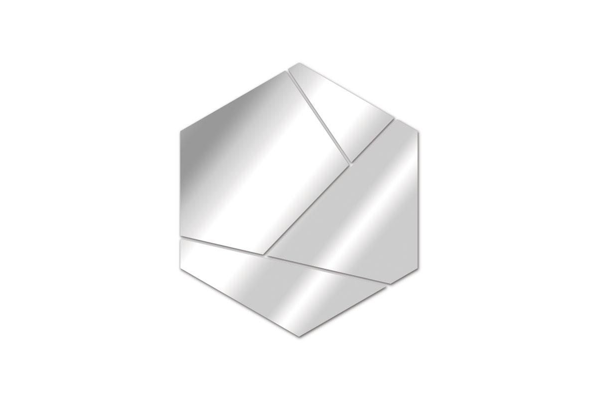 Miroir Design Hexagone
