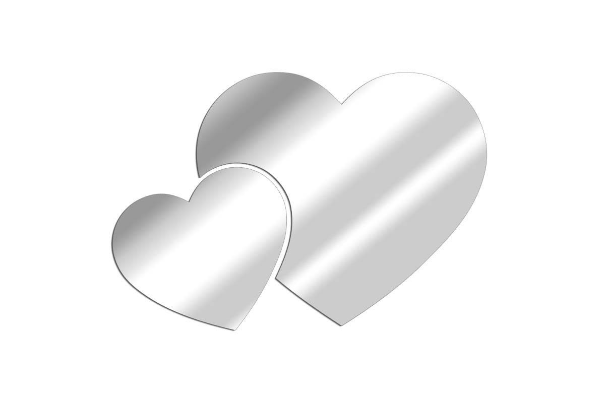 Miroir Cœurs Assemblés